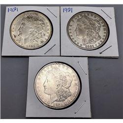 Group of 3 Morgan Silver Dollars