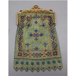 Antique Enameled Purse - Handbag