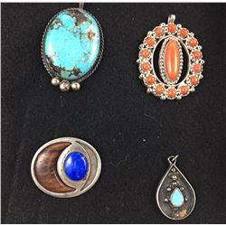 Group of Four Vintage Pendants