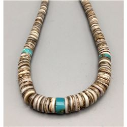 Vintage Turquoise and Shell Bead Necklace