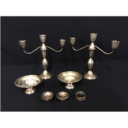 Misc. Sterling Candleholders, etc.