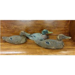 Group of Three Vintage Duck Decoys
