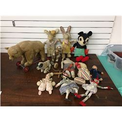 Misc. Antique Stuffed Animals, Toys