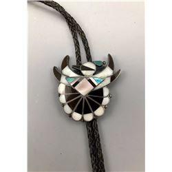Vintage Zuni Inlay Bolo