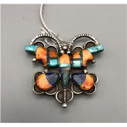 Inlay Butterfly Pin Pendant