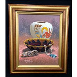 Robert Yellowhair Original Oil
