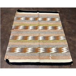 Raised Outline Pattern Navajo Textile