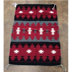 Ganado Red Textile with Weavers Pic
