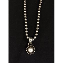 Pearl and Sterling Necklace -  Artie Yellowhorse