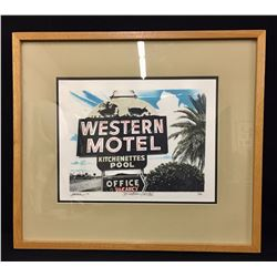 Western Motel Sign, Limited Ed Print
