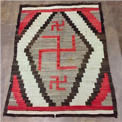 Early Navajo Rug With Whirling Logs