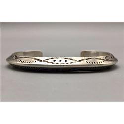 1970s Hand-Stamped Sterling Bracelet