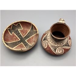 Pair of Vintage Handmade Chilean Pots
