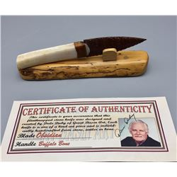 Flint Napped Stone Knife with Certificate