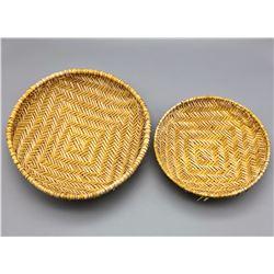 Pair of Vintage Hopi Sifter Baskets