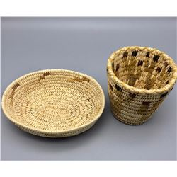 Pair of Vintage Tohono O'odham Baskets