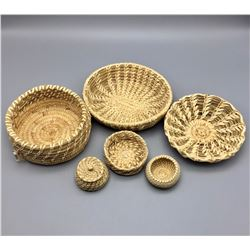 Group of Vintage Tohono O'odham Baskets