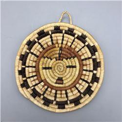 Small Hopi Coiled Basket/Plaque