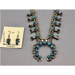 Squash Blossom Necklace and Earrings