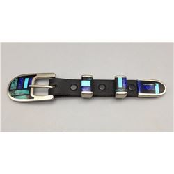 4 Piece Inlay Buckle Set  - Signed.