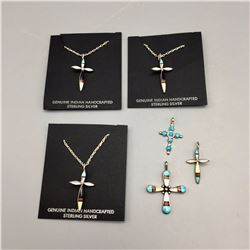 Group of 6 Cross Necklaces