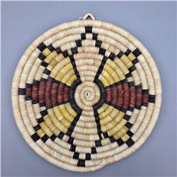 Hopi Coiled Basket - Star Pattern