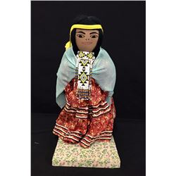 Apache Doll with Cradle and Stand