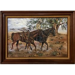 Original Cowboy Oil Painting
