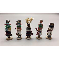 Group of Five Mini Hopi Kachinas