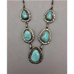 Turquoise Cabochon Necklace - Juan
