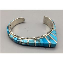 Tall, Turquoise Inlay Bracelet