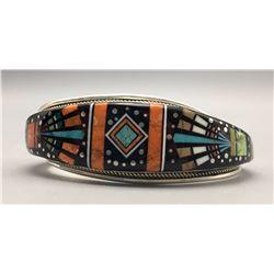 Exquisite Navajo Inlay Bracelet - R. Jack