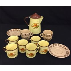Collectable Coffee Pot and Cups Lot.