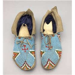 Antique Fully Beaded Moccasins