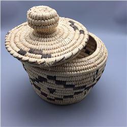 Vintage Lidded Tohono O'odham Basket