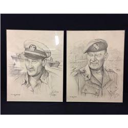 John Wayne Pencil Drawings by Gil Ortega