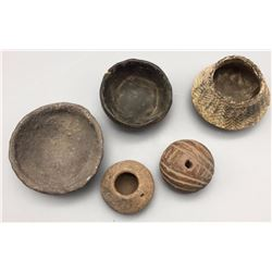 Group of Pre-Columbian Pottery Items