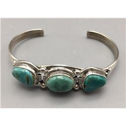 3 Stone Turquoise Bracelet - Nelson