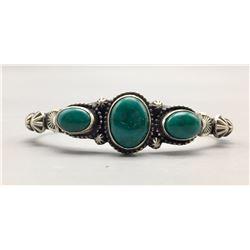 3 Stone Turquoise Bracelet - Johnson