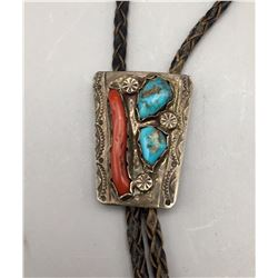 Vintage Turquoise and Coral Bolo