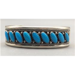 Turquoise and Sterling Silver Bracelet - Livingston