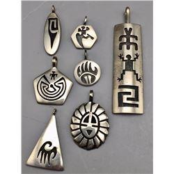 Group of 7 Hopi Pendants