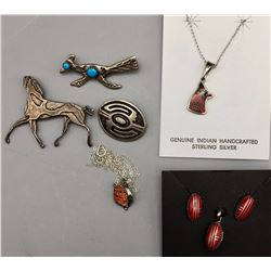 Group of Pins and Necklaces