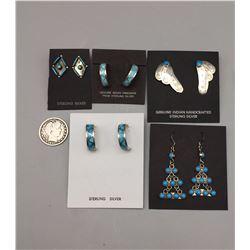 5 Pair of Turquoise Earrings