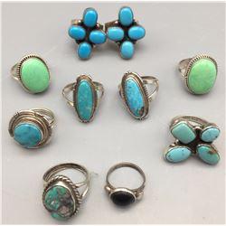 Group of 10 Rings