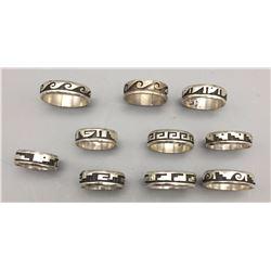 10 Hopi Overlay Rings