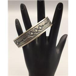 Sterling Silver Navajo Bracelet - Signed