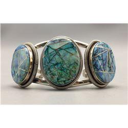 Opal Inlay Bracelet by Wydell Billie