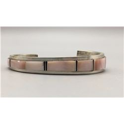 Sterling Inlay Bracelet by Wilma Gilbert