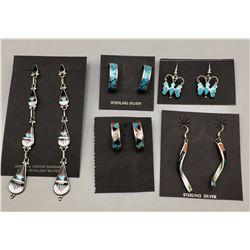 5 Pairs of Inlay Earrings